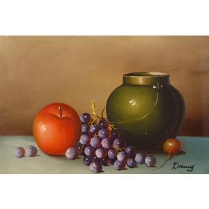 肉筆絵画 油絵 F4号 「果物静物」-28- 特価|touo