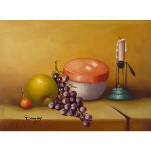肉筆絵画 油絵 F4号 「果物静物」-29- 特価|touo