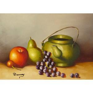 肉筆絵画 油絵 F4号 「果物静物」-30- 特価|touo