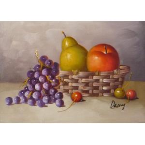 肉筆絵画 油絵 F4号 「果物静物」-35- 特価|touo