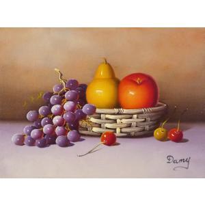 肉筆絵画 油絵 F4号 「果物静物」-36- 特価|touo