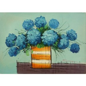 肉筆絵画 油絵 F4号 「花 静物」-4- 特価|touo