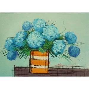 肉筆絵画 油絵 F4号 「花 静物」-6- 特価|touo