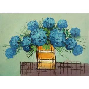 肉筆絵画 油絵 F4号 「花 静物」-7- 特価|touo