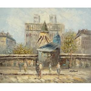 油彩画 洋画 肉筆油絵 F8号 「パリの街風景」-11-|touo