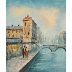油彩画 洋画 肉筆油絵 F8号 「パリの街風景」-13-|touo