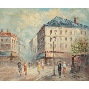 油彩画 洋画 肉筆油絵 F8号 「パリの街風景」-15-|touo