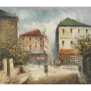 油彩画 洋画 肉筆油絵 F8号 「パリの街風景」-18-|touo