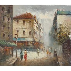油彩画 洋画 肉筆油絵 F8号 「パリの街風景」-19-|touo