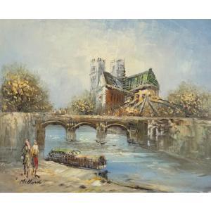 油彩画 洋画 肉筆油絵 F8号 「パリの街風景」-2-|touo