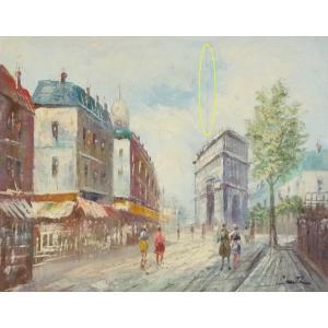 油彩画 洋画 肉筆油絵 F8号 「パリの街風景」-7-|touo