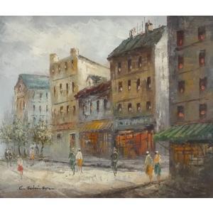 油彩画 洋画 肉筆油絵 F8号 「パリの街風景」-30-|touo