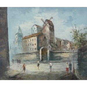 油彩画 洋画 肉筆油絵 F8号 「パリの街風景」-37-|touo