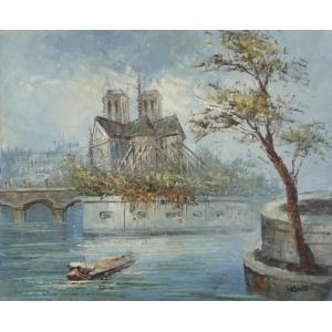 油彩画 洋画 肉筆油絵 F8号 「パリの街風景」-39-|touo