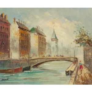 油彩画 洋画 肉筆油絵 F8号 「パリの街風景」-22-|touo