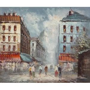 油彩画 洋画 肉筆油絵 F8号 「パリの街風景」-41-|touo