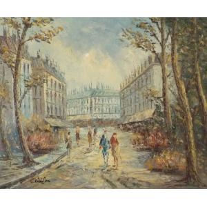 油彩画 洋画 肉筆油絵 F8号 「パリの街風景」-26-|touo