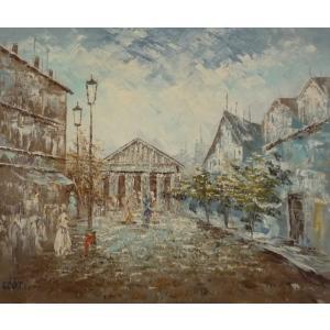 油彩画 洋画 肉筆油絵 F8号 「パリの街風景」-27-|touo