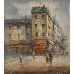 油彩画 洋画 肉筆油絵 F8号 「パリの街風景」-55-|touo