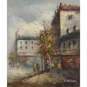 油彩画 洋画 肉筆油絵 F8号 「パリの街風景」-57-|touo