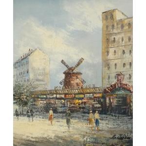 油彩画 洋画 肉筆油絵 F8号 「パリの街風景」-43-|touo