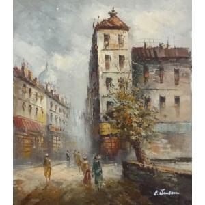 油彩画 洋画 肉筆油絵 F8号 「パリの街風景」-63-|touo