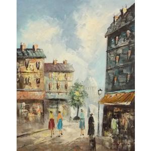 油彩画 洋画 肉筆油絵 F8号 「パリの街風景」-67-|touo