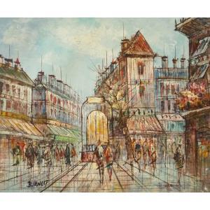 油彩画 洋画 肉筆油絵 F8号 「パリの街風景」-82-|touo