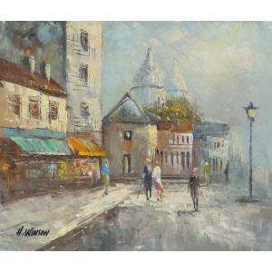 油彩画 洋画 肉筆油絵 F8号 「パリの街風景」-91-|touo