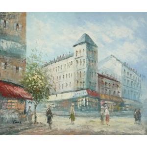 油彩画 洋画 肉筆油絵 F8号 「パリの街風景」-97-|touo