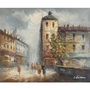 油彩画 洋画 肉筆油絵 F8号 「パリの街風景」-101-|touo