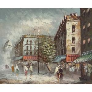 油彩画 洋画 肉筆油絵 F8号 「パリの街風景」-103-|touo
