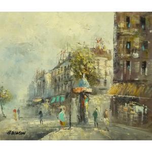 油彩画 洋画 肉筆油絵 F8号 「パリの街風景」-107-|touo
