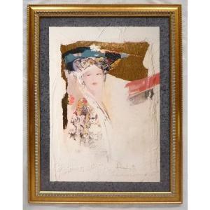 絵画 インテリア アートポスター 壁掛け ヨーロッパ製 (額縁 アートフレーム付き) シートサイズ60X80cm -1-特価-|touo