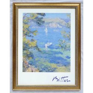 絵画 インテリア アートポスター 壁掛け ヨーロッパ製 (額縁 アートフレーム付き) シートサイズ60X80cm -15-特価-|touo