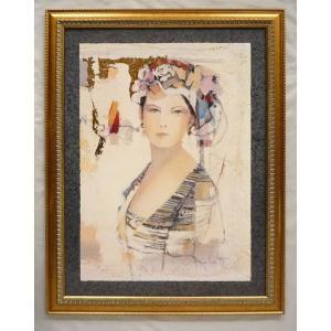 絵画 インテリア アートポスター 壁掛け ヨーロッパ製 (額縁 アートフレーム付き) シートサイズ60X80cm -2-特価-|touo