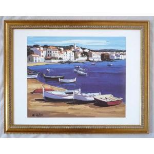 絵画 インテリア アートポスター 壁掛け ヨーロッパ製 (額縁 アートフレーム付き) シートサイズ60X80cm -24-特価-|touo
