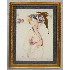 絵画 インテリア アートポスター 壁掛け ヨーロッパ製 (額縁 アートフレーム付き) シートサイズ60X80cm -4-特価-|touo