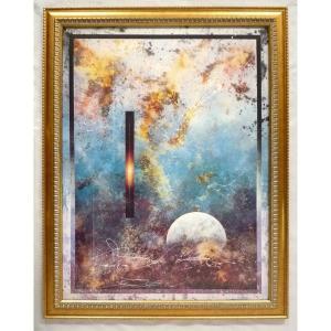 絵画 インテリア アートポスター 壁掛け ヨーロッパ製 (額縁 アートフレーム付き) シートサイズ60X80cm -8-特価-|touo