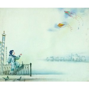 ヨーロッパ絵画 油絵 F20号 ヴィアネロ作「ヴェネチア」1 touo