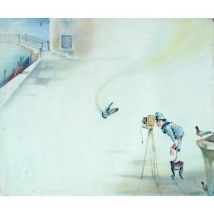 ヨーロッパ絵画 油絵 F20号 ヴィアネロ作「ヴェネチア」4 touo