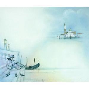 ヨーロッパ絵画 油絵 F20号 ヴィアネロ作「ヴェネチア」5 touo