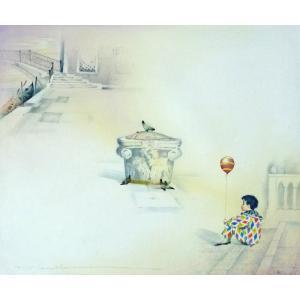 ヨーロッパ絵画 油絵 F20号 ヴィアネロ作「ヴェネチア」6 touo