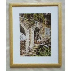 絵画 インテリア アートポスター 壁掛け ヨーロッパ製 (額縁 アートフレーム付き) サイズ八ッ切 24X30mm CBO2011|touo