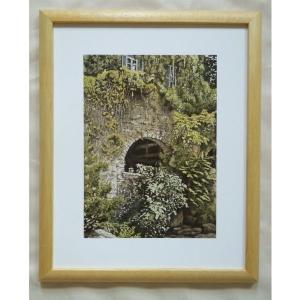 絵画 インテリア アートポスター 壁掛け ヨーロッパ製 (額縁 アートフレーム付き) サイズ八ッ切 24X30mm CBO2012|touo