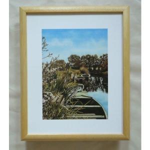 絵画 インテリア アートポスター 壁掛け ヨーロッパ製 (額縁 アートフレーム付き) サイズ八ッ切 24X30mm CBO2037|touo