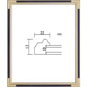 額縁 デッサン額 木製フレーム PF102C 四ッ切サイズ|touo