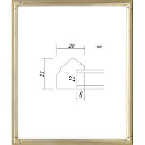 額縁 デッサン額 木製フレーム PF102D 八ッ切サイズ|touo