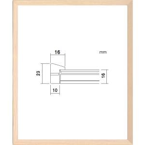 額縁 デッサン額 木製フレーム PF102F 八ッ切サイズ|touo