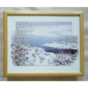 絵画 インテリア アートポスター 壁掛け ヨーロッパ製 (額縁 アートフレーム付き) サイズ八ッ切 24X30mm PM2057 touo
